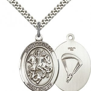 Sterling Silver St. George - Paratrooper Pendant