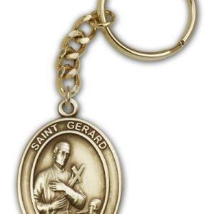 Antique Gold St Gerard Keychain