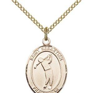 Gold Filled St. Sebastian/Golf Pendant
