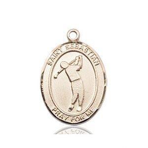 14kt Gold St. Sebastian/Golf Medal