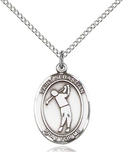 Sterling Silver St. Sebastian/Golf Pendant