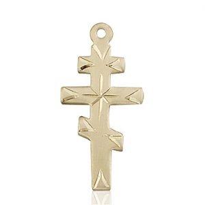 14kt Gold Greek Orthadox Cross Medal #87662