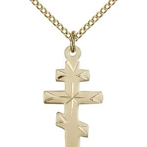 Gold Filled Greek Orthadox Cross Necklace #87660