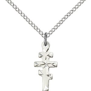 Sterling Silver Greek Orthadox Cross Necklace #87739