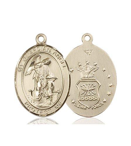 14kt Gold Guardian Angel Medal