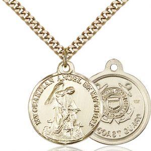 14kt Gold Filled Guardain Angel - Coast Guard Pendant