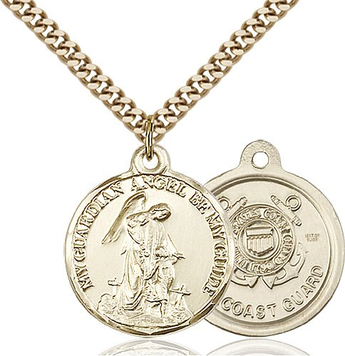 14kt Gold Filled Guardain Angel - Coast Guard Pendant