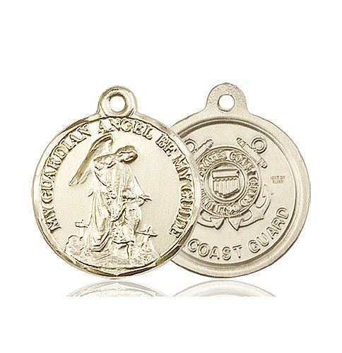 14kt Gold Guardain Angel - Coast Guard Medal