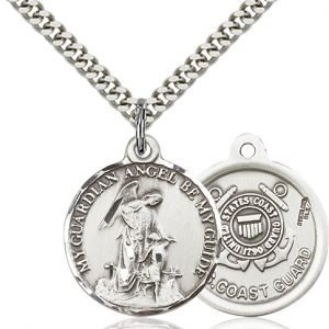 Sterling Silver Guardain Angel - Coast Guard Penda