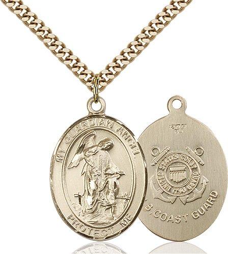 14kt Gold Filled Guardian Angel Pendant