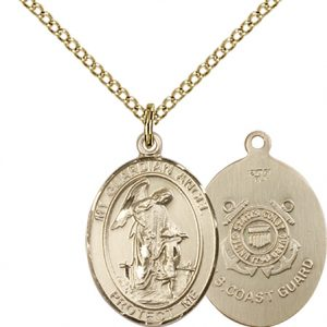 14kt Gold Filled Guardian Angel - Coast Guard Pendant