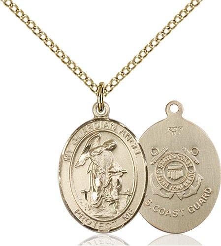 14kt Gold Filled Guardian Angel - Coast Guard Pendant