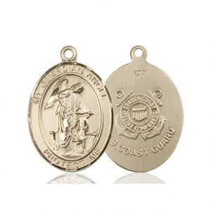 14kt Gold Guardian Angel - Coast Guard Medal