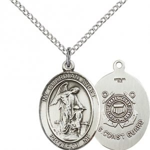 Sterling Silver Guardian Angel - Coast Guard Penda