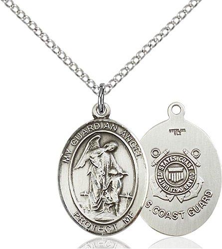 Sterling Silver Guardian Angel - Coast Guard Penda