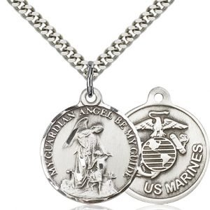 Sterling Silver Guardain Angel - Marines Pendant