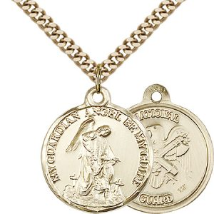 14kt Gold Filled Guardain Angel - Nat'L Guard Pendant