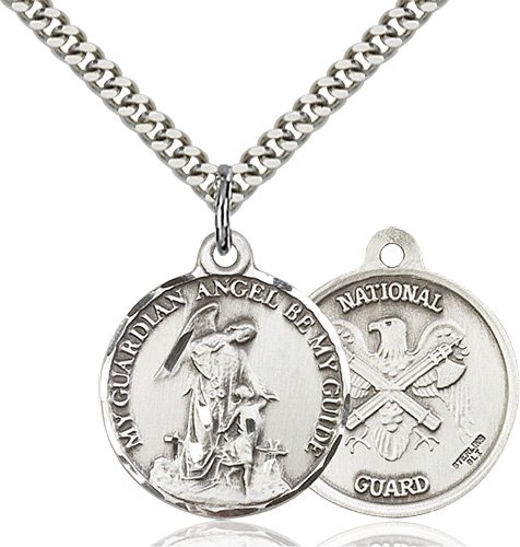 Sterling Silver Guardain Angel - Nat'L Guard Penda