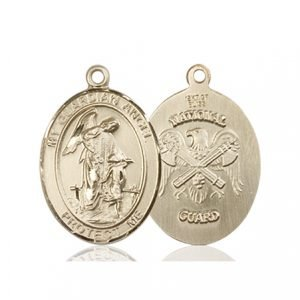 14kt Gold Guardian Angel - Nat'L Guard Medal