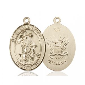 14kt Gold Guardian Angel Medal