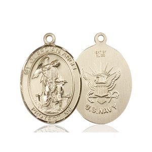 14kt Gold Guardian Angel - Navy Medal