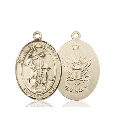 14kt Gold Guardian Angel - Navy Medal