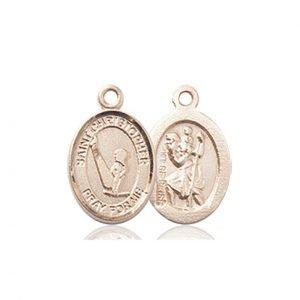14kt Gold St. Christopher/Gymnastics Medal