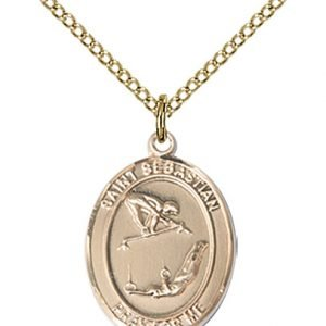 Gold Filled St Sebastian / Gymnastics Pendant