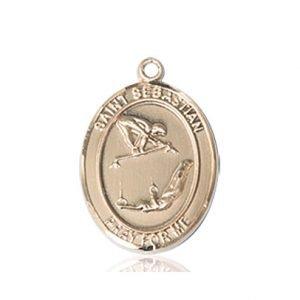 14kt Gold St Sebastian / Gymnastics Medal