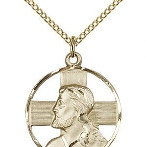 Gold Filled Head of Christ Necklace #87621