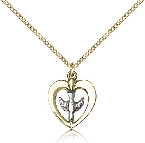 Heart And Dove Confirmation Charm 91056