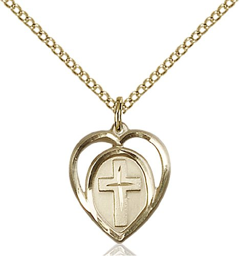 Gold Filled Heart - Cross Necklace #87585