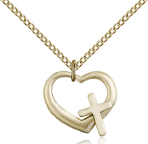 Gold Filled Heart - Cross Necklace #87613
