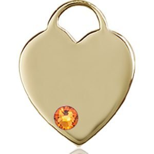Heart Medal - November Birthstone - 14 KT Gold #88753