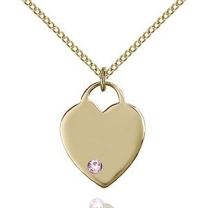 Heart Pendant - June Birthstone - Gold Filled #88632
