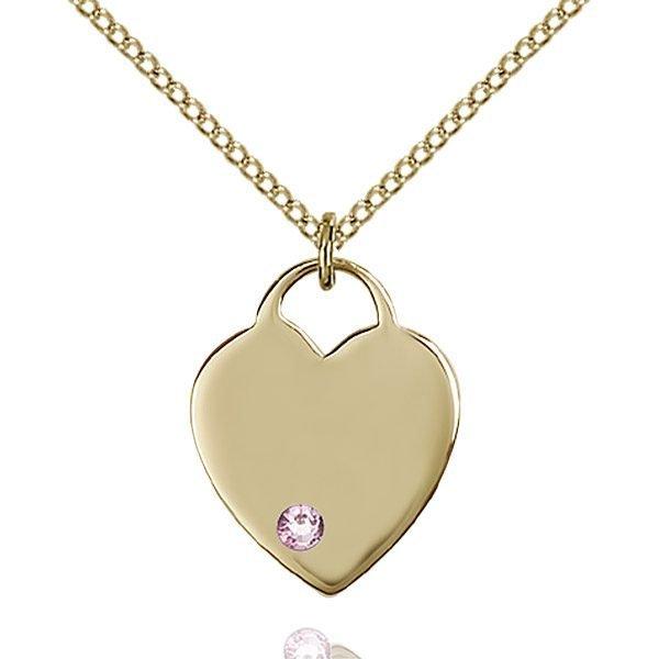 Heart Pendant - June Birthstone - Gold Filled #88632