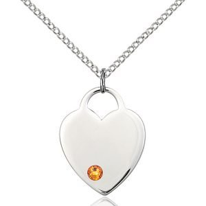 Heart Pendant - November Birthstone - Sterling Silver #88652