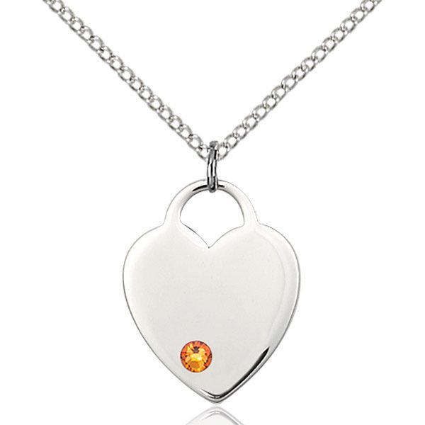 Heart Pendant - November Birthstone - Sterling Silver #88652