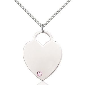 Heart Pendant - June Birthstone - Sterling Silver #88658