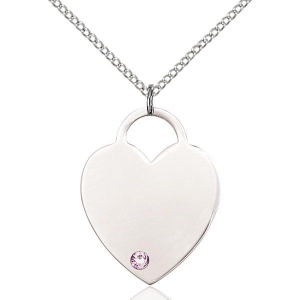 Heart Pendant - June Birthstone - Sterling Silver #88658