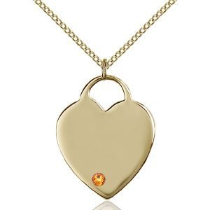 Heart Pendant - November Birthstone - Gold Filled #88701