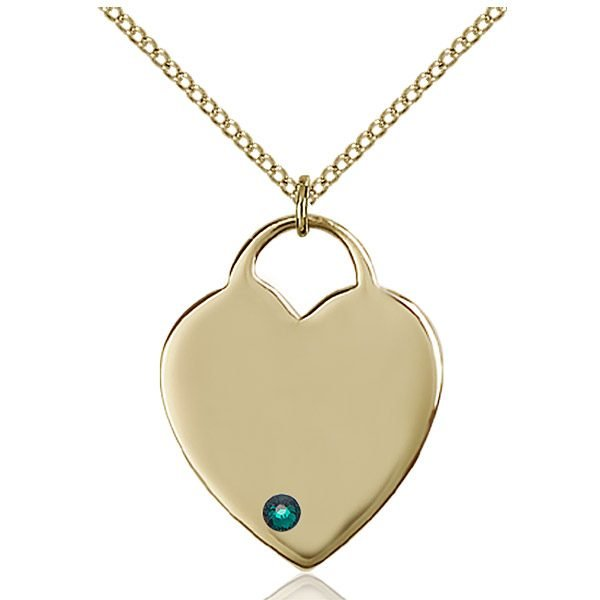Heart Pendant - May Birthstone - Gold Filled #88706