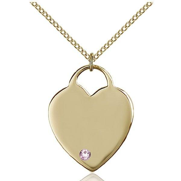 Heart Pendant - June Birthstone - Gold Filled #88707