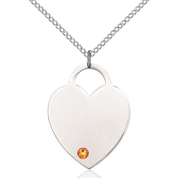 Heart Pendant - November Birthstone - Sterling Silver #88727