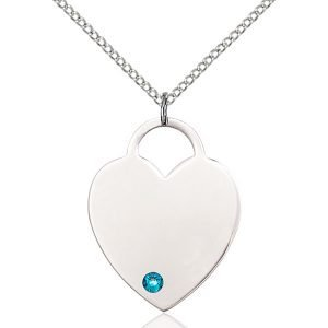 Heart Pendant - December Birthstone - Sterling Silver #88728