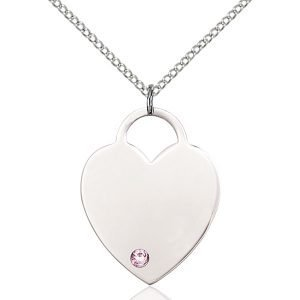 Heart Pendant - June Birthstone - Sterling Silver #88733
