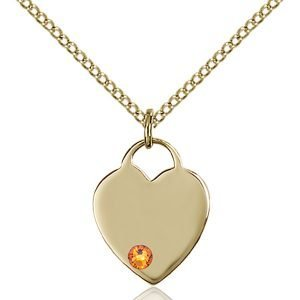 Heart Pendant - November Birthstone - Gold Filled #88740