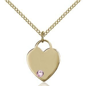 Heart Pendant - June Birthstone - Gold Filled #88746