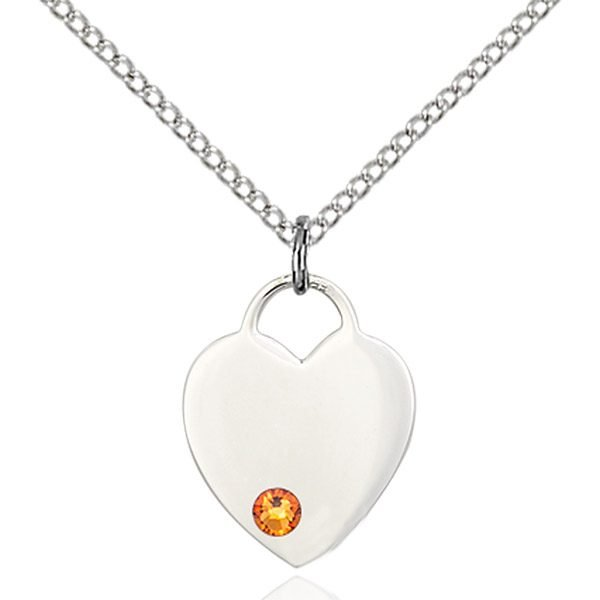 Heart Pendant - November Birthstone - Sterling Silver #88766