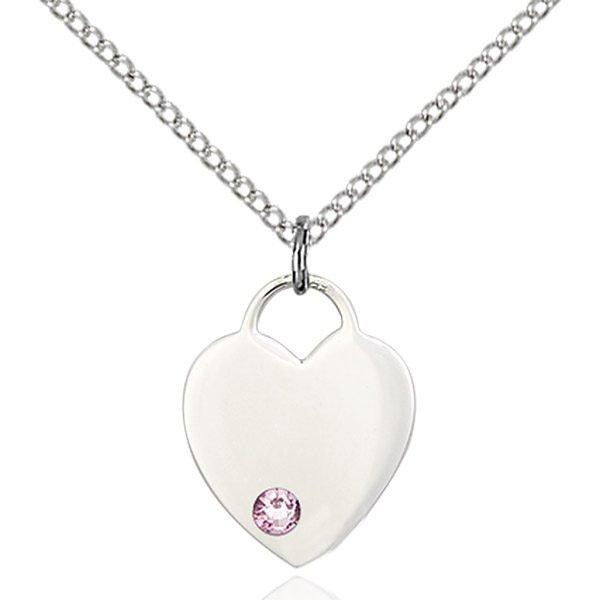 Heart Pendant - June Birthstone - Sterling Silver #88772